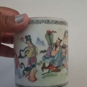 Hand painted Asian mug